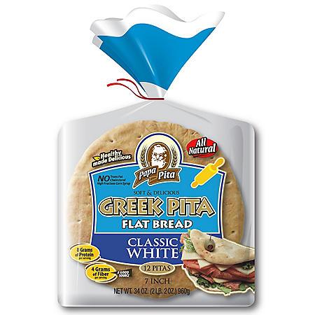 "Papa Pita Greek Pita Wheat, 7"" (12 ct., 28 oz.)"