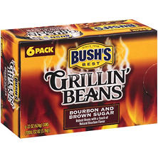 Bush's Bourbon & Brown Sugar Grillin' Beans - 22 oz. - 6 pk.