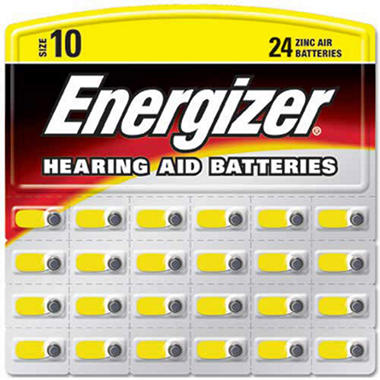 Energizer Hearing Aid Batteries #10 ZincAir - 24 ct.
