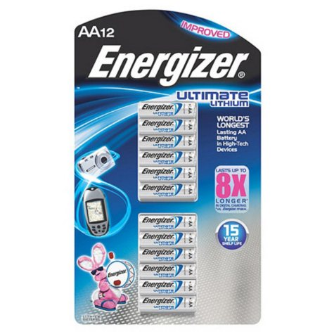 Energizer Ultimate Lithium AA Batteries (12 Pk.)