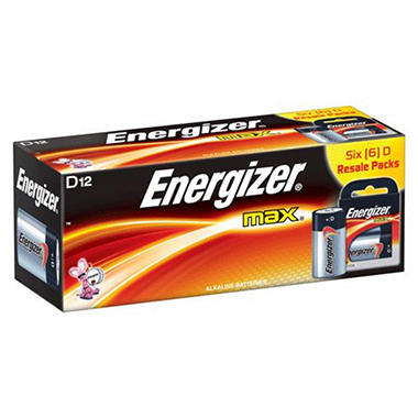 Energizer MAX D Batteries - 12 ct. in Resale Packs