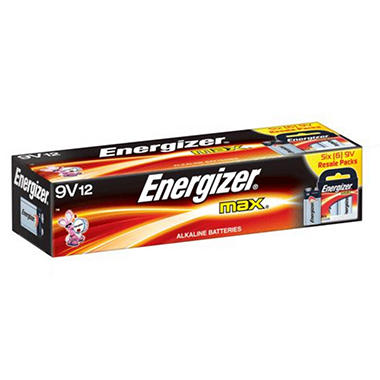 Energizer MAX 9V Batteries - 12 ct. in Resale Packs