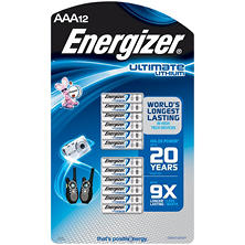 Energizer Ultimate Lithium AAA Batteries (12 Pk.)