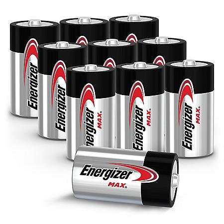 Energizer MAX Alkaline C Batteries, 10-Pack