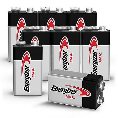 Energizer MAX Alkaline 9 Volt Batteries, 8-Pack