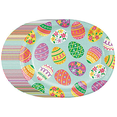 Member's Mark Eggstra Fun Easter Oval Paper Plates - 55 ct.