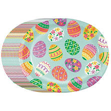 "Member's Mark Get Eggy With It Paper Plates - 10""x12"" Oval Platter (50 ct.)"