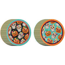 Member's Mark Decorative Skulls Paper Plates - Dinner Plates - 80ct.