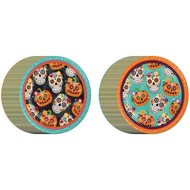 Memberu0027s Mark Fiesta De Los Muertos Halloween Paper Plates 80ct.  sc 1 st  Samu0027s Club & Memberu0027s Mark Fiesta De Los Muertos Halloween Paper Plates 80ct ...