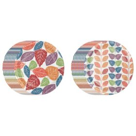 """Member's Mark Just Leafy Paper Plates, 10.25"""" (80 ct.)"""