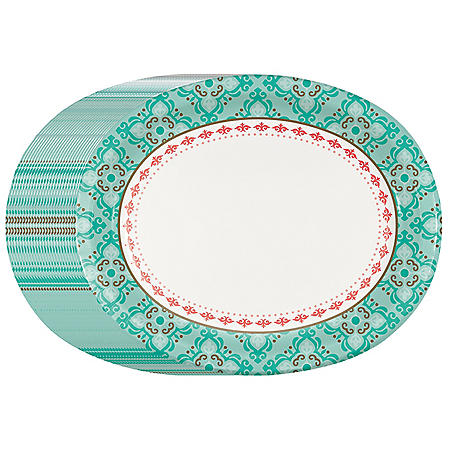 Member's Mark Classic Mosaic Oval Paper Plates - 55 ct.