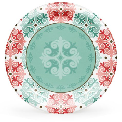 "Member's Mark Classic Mosaic 10"" Paper Plates - 90 ct."