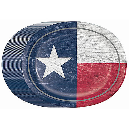 Member's Mark Star of Texas Oval Paper Plates - 55 ct.
