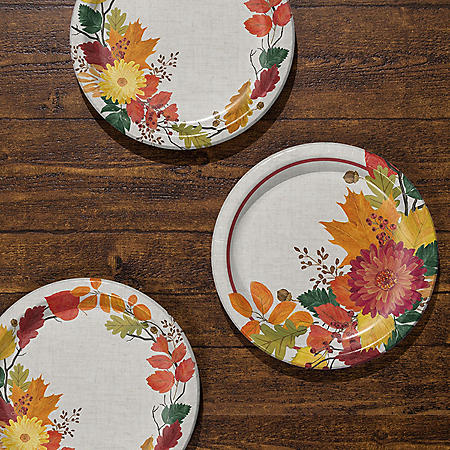 Member's Mark Fall Foliage Paper Plates 90 ct.