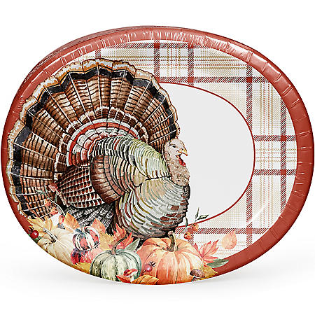 Member's Mark Bountiful Fall Oval Plates - 55 ct.