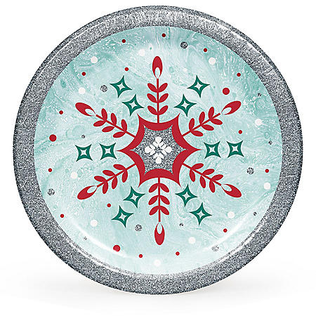 Member's Mark Glittered Snowfall Paper Plates (90 ct.)