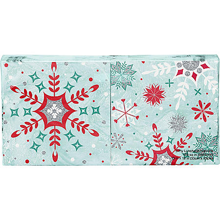 Artstyle Glittered Snowfall Napkins Twin Stack - 200 ct.