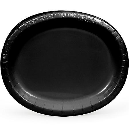 Artstyle Black Oval Paper Plates (55 ct.)