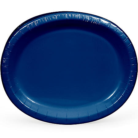 Artstyle Navy Oval Paper Plates (55 ct.)