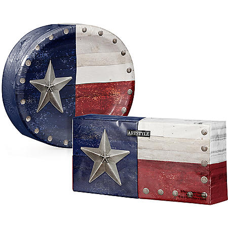 Artstyle Heart of Texas Oval Plate and Napkin Kit (255 ct.)