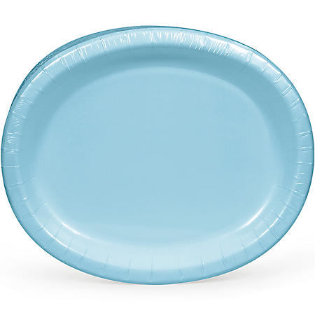 "Artstyle Pastel Blue Oval Paper Plates 10"" x 12"" (55 ct.)"