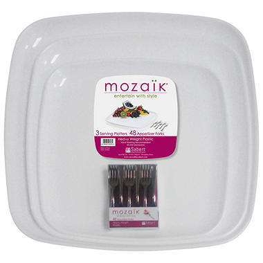 Mozaik® Platter Set with Mini Forks