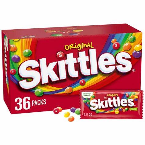 Skittles Original Bite Size Candies - 2.17 oz. - 36 pk.