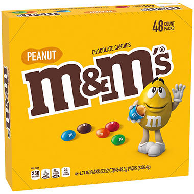 M&M's Peanut Candy (1.74 oz., 48 ct.)