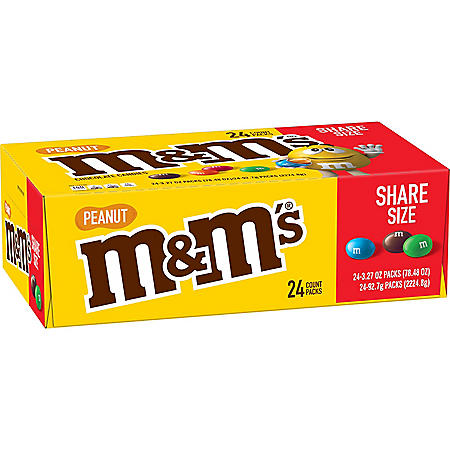 M&M's Peanut Sharing Size (3.27 oz., 24 ct.)