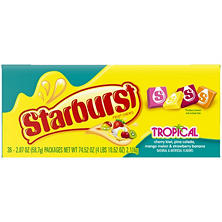 Starburst Tropical Fruit Chews  2.07 oz. (36 ct.)