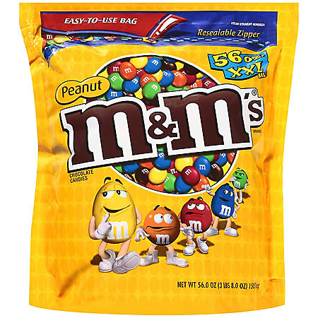 M&M's Peanut Milk Chocolate Candies (56 oz.)