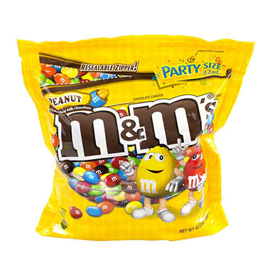 M&M's Peanut Milk Chocolate Candies (42 oz.)