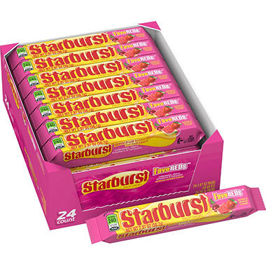 Starburst FaveREDs Fruit Chews Candy (2.07 oz., 24 pk.)