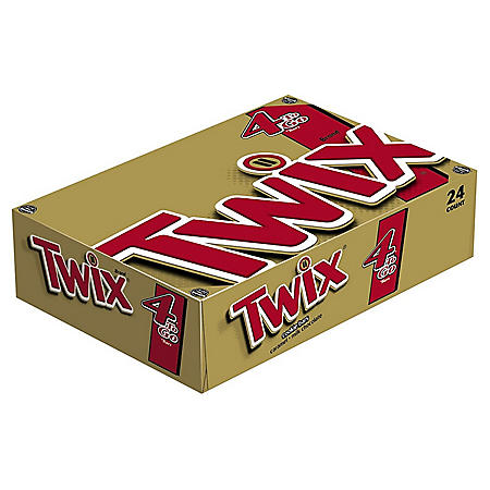 Twix Cookie Bars, King Size (3.02 oz., 24 pk.)