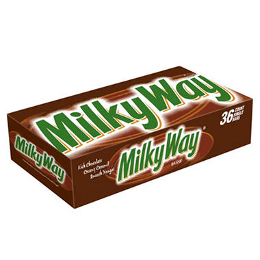 MILKY WAY Milk Chocolate Singles Size Candy Bars (1.84 oz., 36 ct.)
