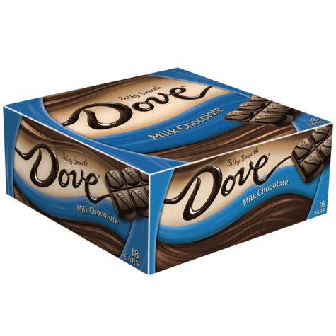 DOVE BRAND MILK CHOCOLATE 18CT