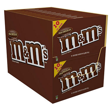 M & M's Milk Chocolate Candy - 10 pk.