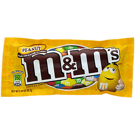 M & M's Peanut Chocolate Candy - 10 pk.