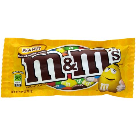M & M's Peanut Chocolate Candy - 10 pk.
