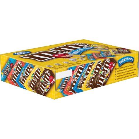 M&M's Chocolate Candies, Variety Pack (30 ct.)