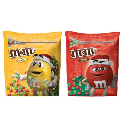 Holiday M&M's Milk Chocolate Candies (51.5 oz., Plain or Peanut)