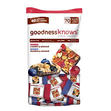 goodnessknows Snack Squares, Cranberry Almond & Blueberry Almond (70 ct.)