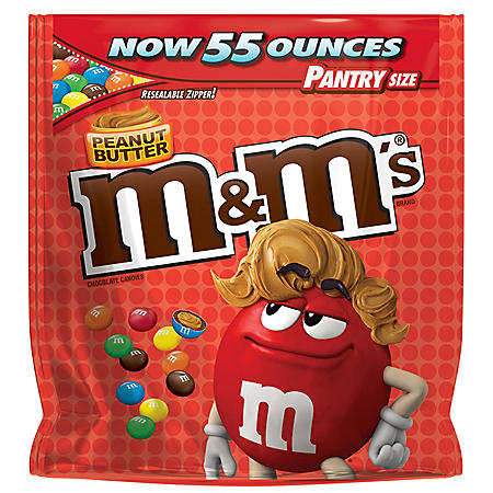 M&M's Peanut Butter Bag, Pantry Size (55 oz.)