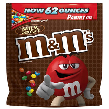 M&M's Milk Chocolate Candy Pantry Size Bag (62 oz.)