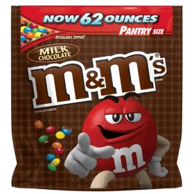 M&M's Milk Chocolate Candy Pantry Size Bag (62 oz.)