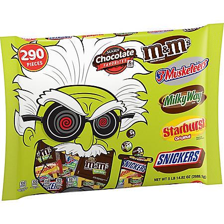 MARS Halloween Fun Size Candy Mad Scientist Bag (94.8 oz., 290 ct.)