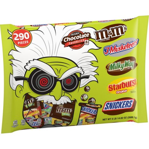 Mars Halloween Fun Size Candy Mad Scientist Bag (290 ct.)