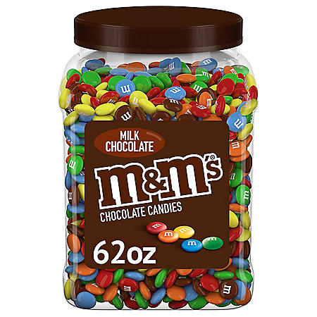 M&M's Milk Chocolate Plastic Jar, Pantry Size (62 oz.)