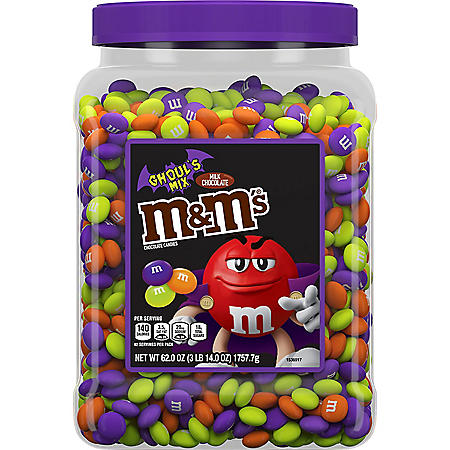 M&M's Ghoul's Mix Milk Chocolate Halloween Candy Jar (62oz.)
