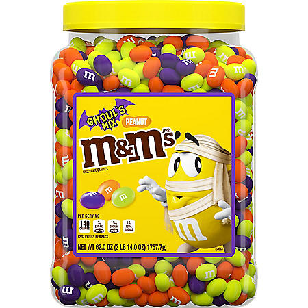 M&M'S Ghoul's Mix Peanut Chocolate Halloween Candy (62 oz.)